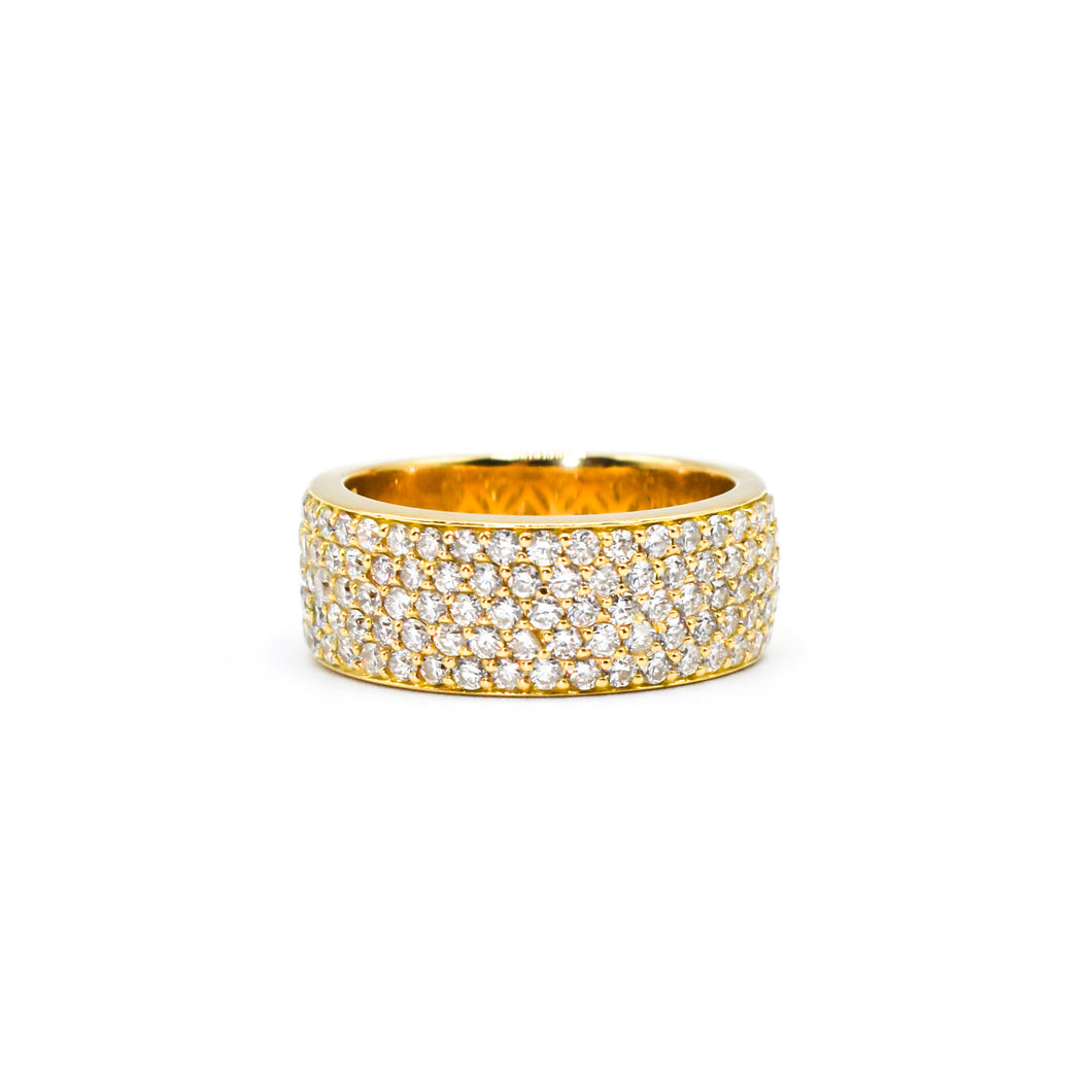 18K Gold Band with 1.75ct of Diamonds