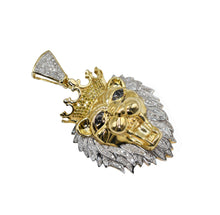 "Load image into Gallery viewer, Diamond ""Lion"" Pendant with 1.25ct of Diamonds set in 10K Gold"