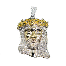 "Load image into Gallery viewer, 14K Gold ""Jesus Head"" Pendant with 1.25ct of Diamonds"