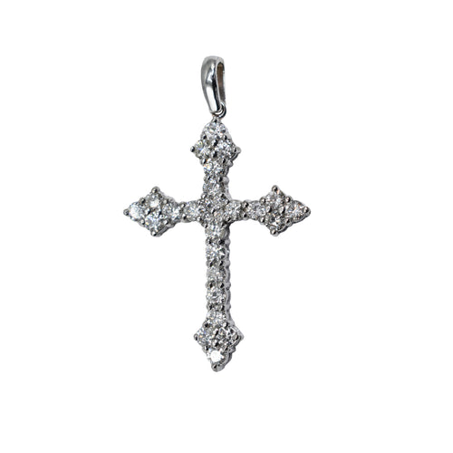 3ct Diamond Cross Set in 14K Gold