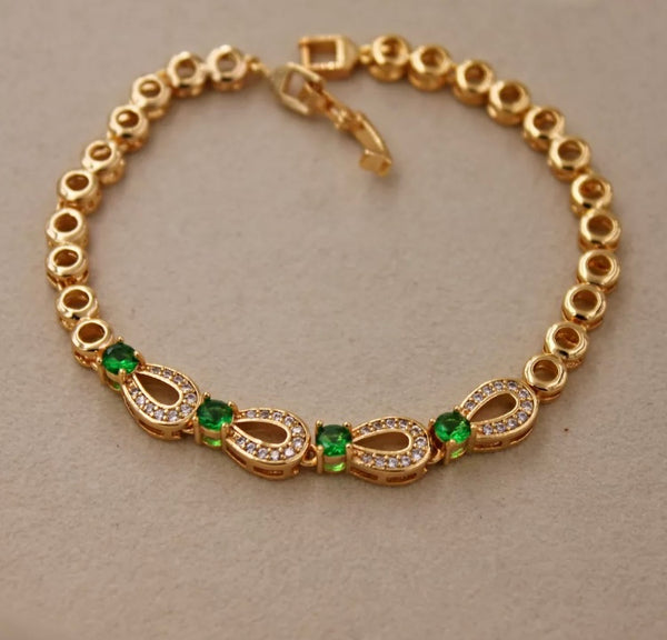 Eternity Link Emerald Bracelet