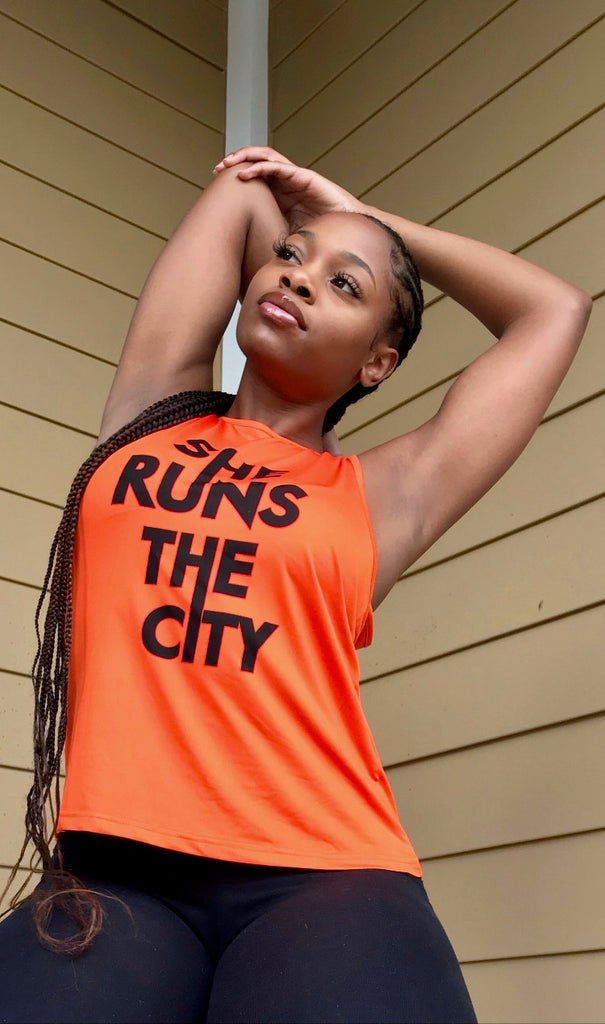 She Runs the City Muscle Tee