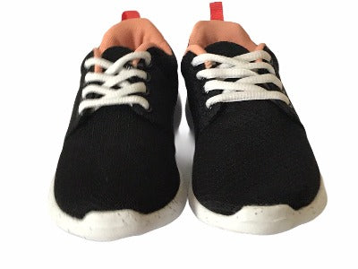 Gemo Black & Peach Trainers - Glo Selections Kids Shoes