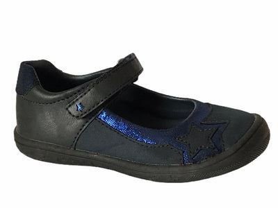 Bleufornce Girl Black & Blue Shoes - Glo Selections Kids Shoes