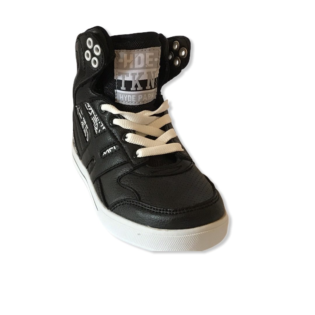 Black & White  Hi Top Trainers