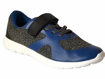 Girls' Gemo Kid Blue & Grey Trainers - Glo Selections Kids Shoes