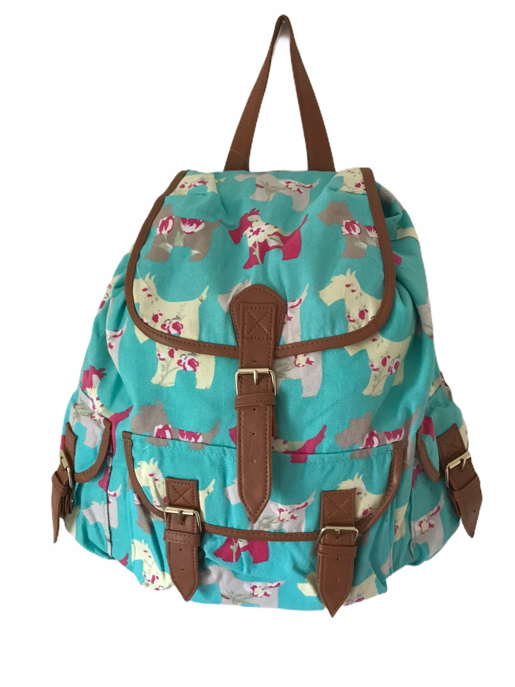 Green Dogs Design Backpack Bag