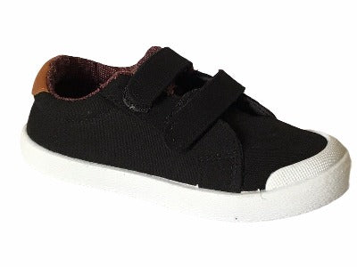 Gemo Black Brown Canvas - Glo Selections Kids Shoes