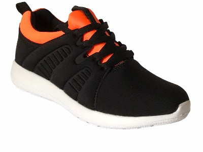 Gemo Black  & Orange Trainers - Glo Selections Kids Shoes