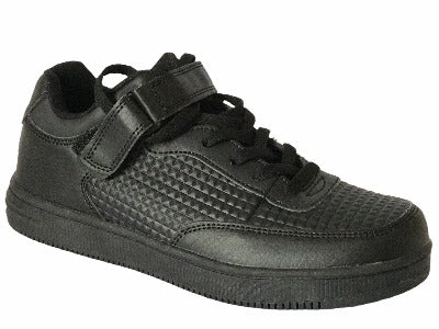 Black Gemo Boy Trainers - Glo Selections Kids Shoes
