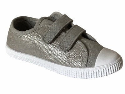 Gemo Grey Canvas Trainers