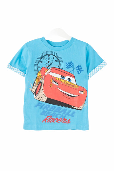 Kids Disney Car T Shirt in Blue or White - Glo Selections Kids Shoes