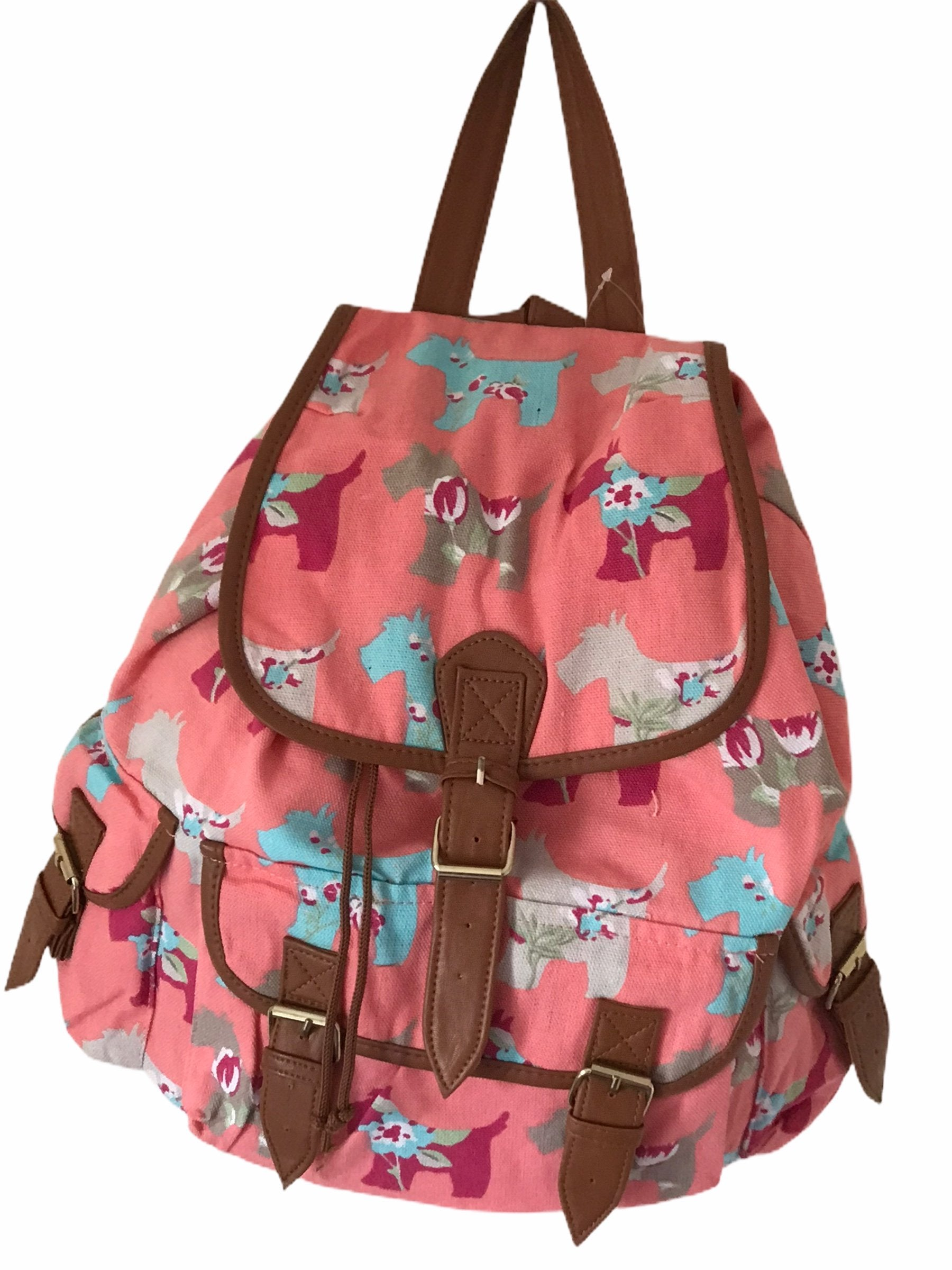 Pink Dogs Design Backpack Bag
