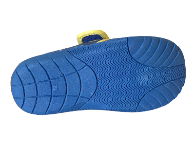 Give your little one this adorable Blue and Yellow Baby Shark House Slipper with quick and easy rip fastener