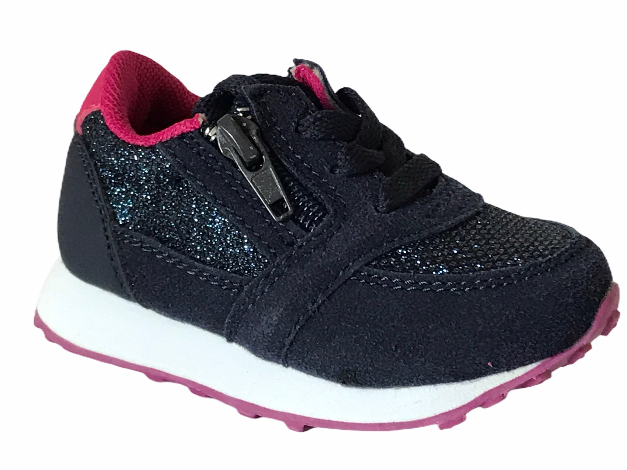 Gemo Girl Blue & Pink Trainers - Glo Selections Kids Shoes