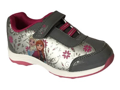 Girls Disney Frozen Anna & Elsa  Grey Kids Trainers Shoes