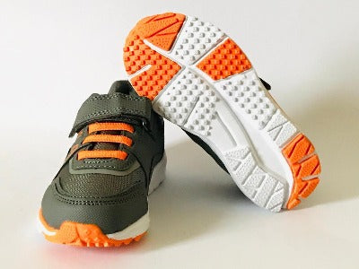 Gemo Girl Grey & Orange Trainers Shoes - Glo Selections Kids Shoes