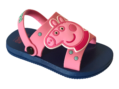 GIRLS' PEPPA PIG KIDS SANDALS TODDLER  BEACH SANDALS Pink/DARK BLUE-EU Size 22 to 27