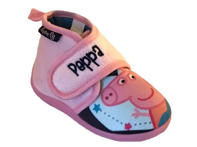 GIRLS' PEPPA PIG LITTLE KIDS HOUSE SLIPPERS