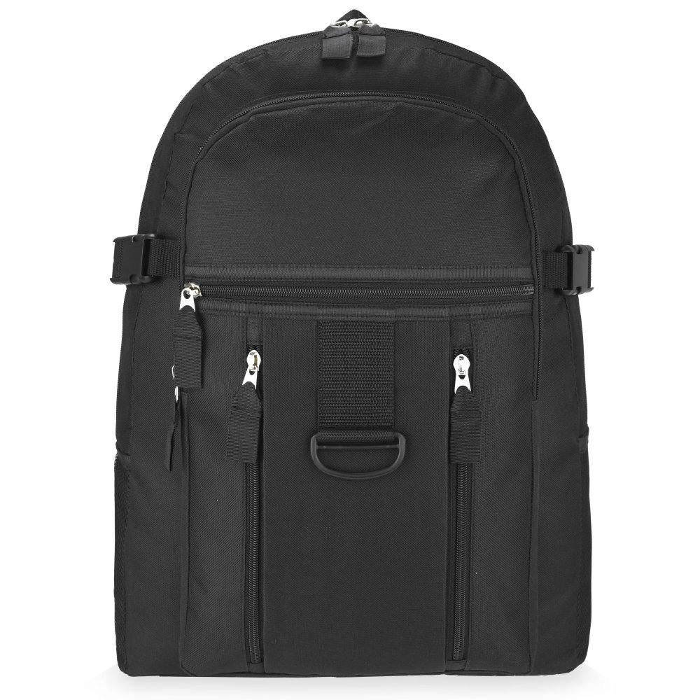 Plain Black Backpack Bag