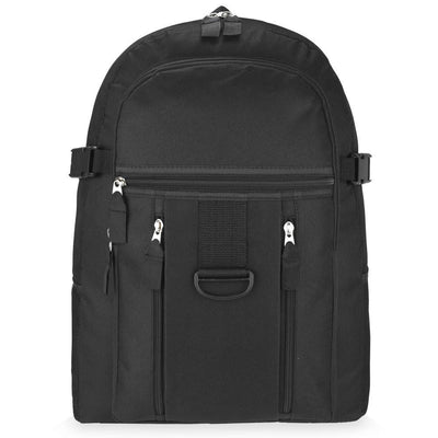 Plain Black Backpack Bag - Glo Selections Kids Shoes