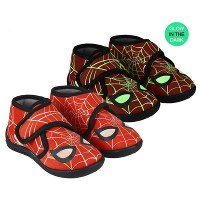 SPIDERMAN KIDS HOUSE SLIPPERS (GLOWS IN THE DARK)