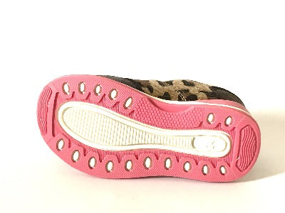 Marron and Pink Cadgean Trainers - Glo Selections Kids Shoes