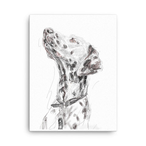 Quirky dog art, Dalmation print, cool Dalmation art, Dalmation print, cute dog, cool dog portrait, dog art, Dalmation canvas, Dalmation painting.