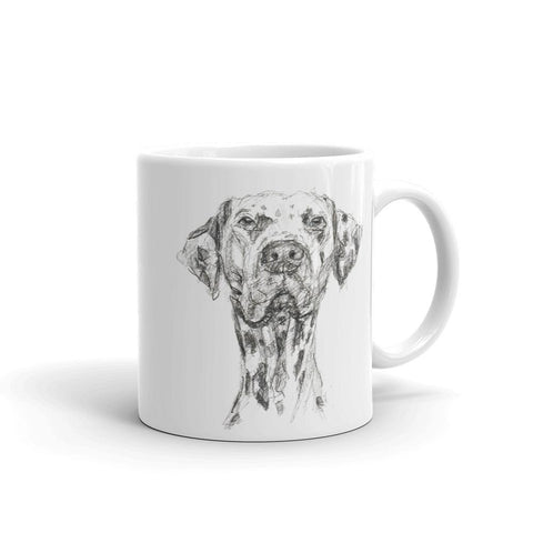 Quirky Dalmation Mug, cool dog mug design