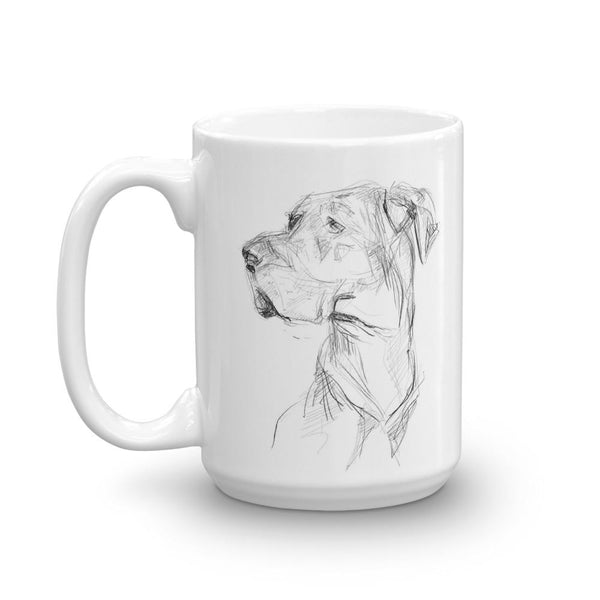 Quirky Great Dane mug, cool dog design