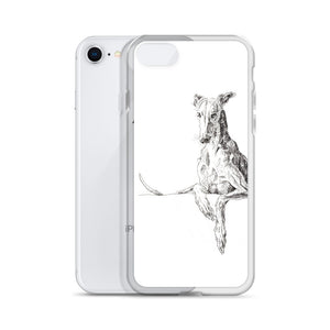 Cool Greyhound iPhone. This sleek iPhone case with quirky sighthound design