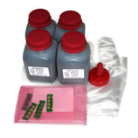 4x 100g Toner Refill with chip  for Xerox Phaser 3260, WorkCentre 3215 106R02775 106r02777