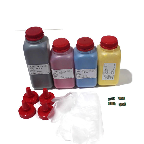 4 Toner refill kit with chips for Xerox VersaLink C400 C405 C400DN C405DN