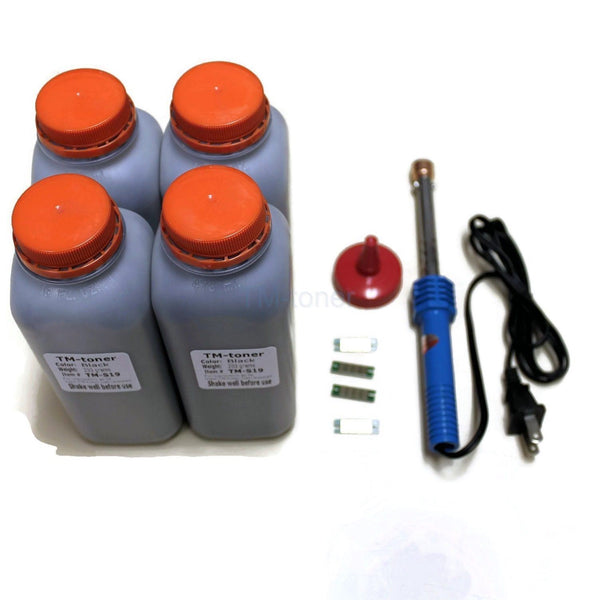 4x Toner refill with Chips & tool for Ricoh SP4510SF SP4510DN SP3610SF 3600DN