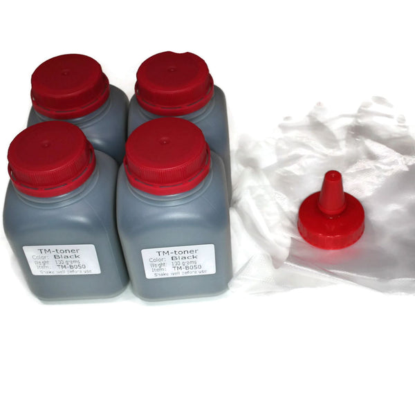 4 bottles 100g Toner Refill for Xerox Phaser 3260, WorkCentre 3215 106R02775 106r02777 no chip