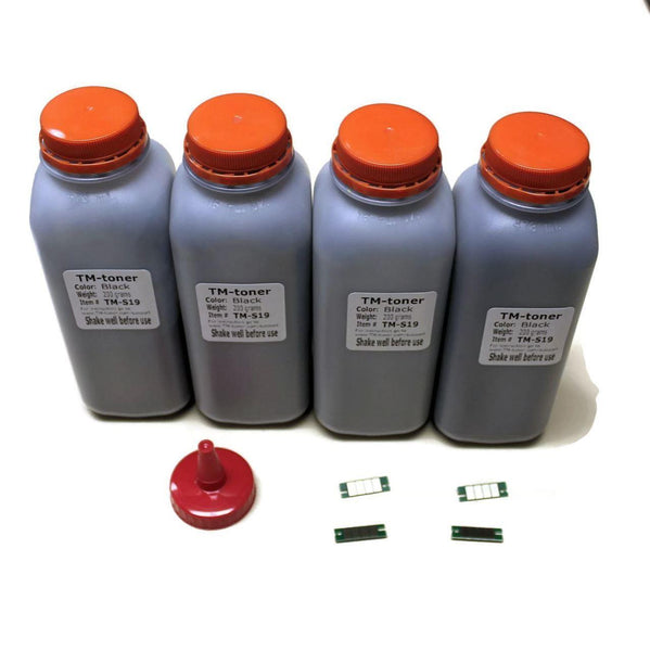 4 Toner refill kit with Chip for Ricoh 408161, Aficio SP 377DNwX, SP 377SFNwX (SP 377)