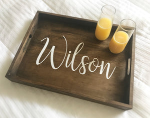 Personalized Wood Serving Tray