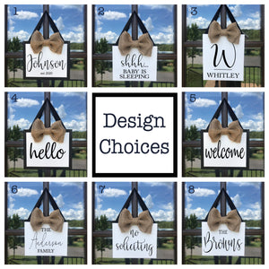 Hanging Door Canvas Sign