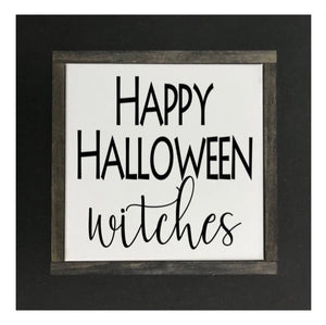 Halloween - Happy Halloween Canvas Sign