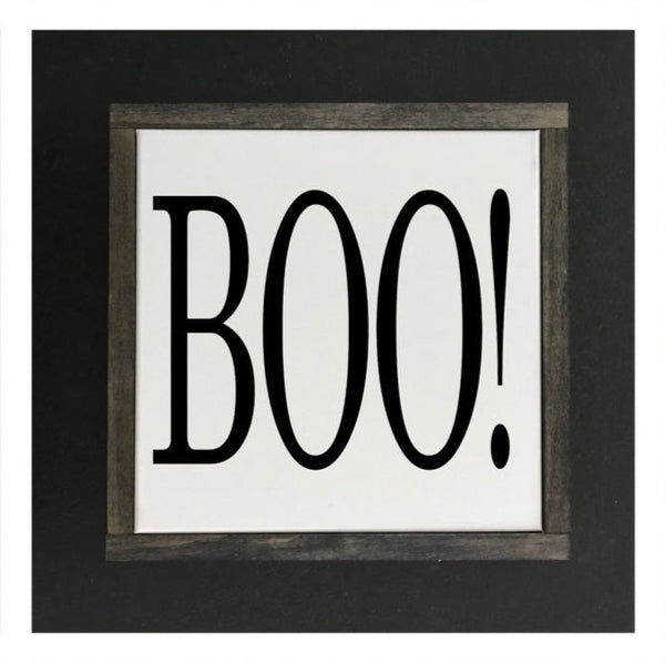 Boo! Canvas Sign