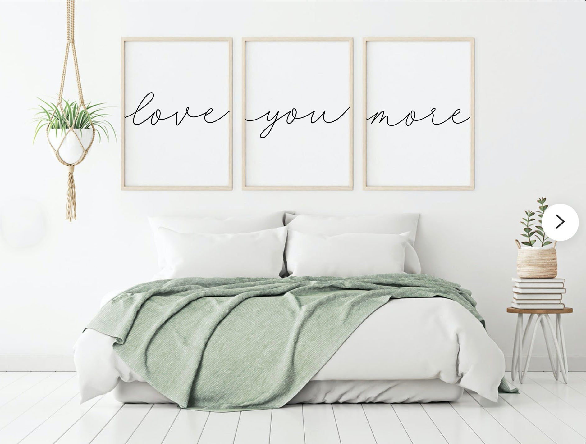 Love You More Canvas Set