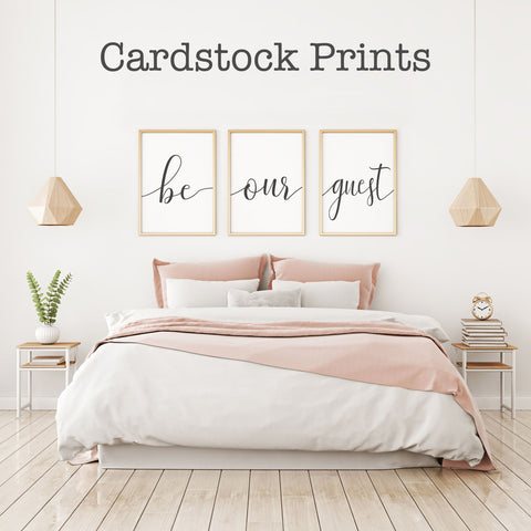 Be Our Guest Cardstock Prints