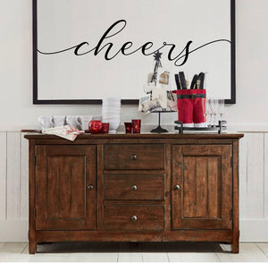 Canvas Cheers Sign