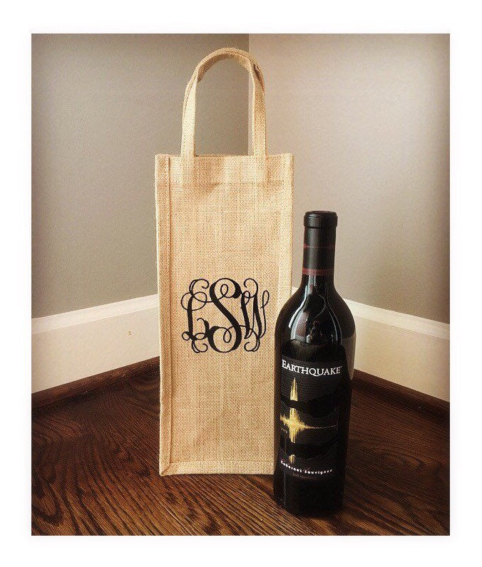 Personalized Wine Tote Bag - FREE SHIPPING!