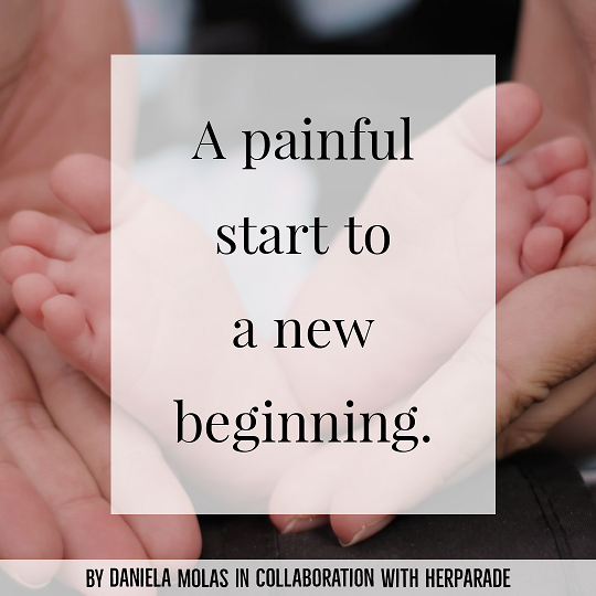 A painful start to a new beginning.