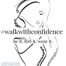 Load image into Gallery viewer, Women's organic cotton fitted tee #walkwithconfidence - helping women & their causes