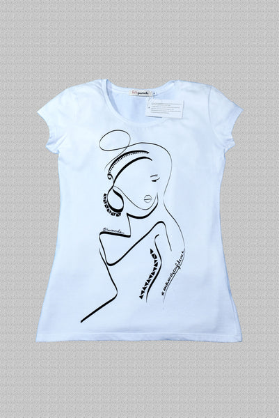 Women's organic cotton fitted tee #walkwithconfidence - helping women & their causes