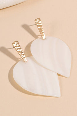 Leaf Shape Shell Dangling Earrings
