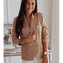 Load image into Gallery viewer, Women Blazer Top Long Sleeve V Neck Button Casual Blazers