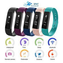 Load image into Gallery viewer, ID115 Smart Bracelet Fitness Tracker